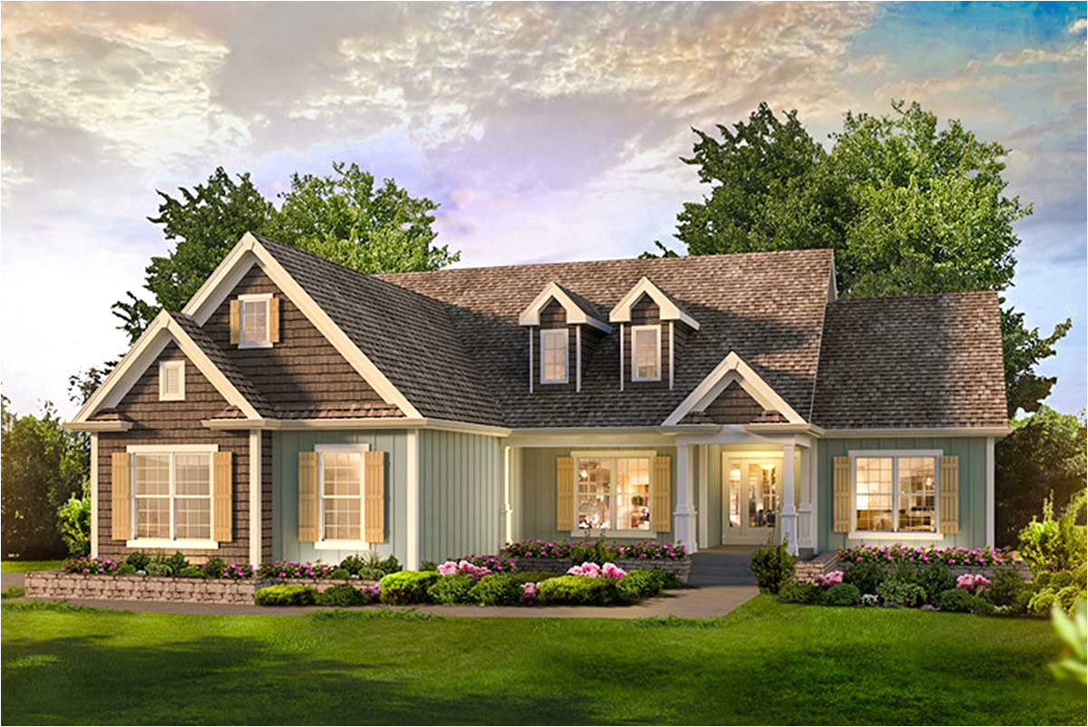 3 bed country ranch home plan 57329ha