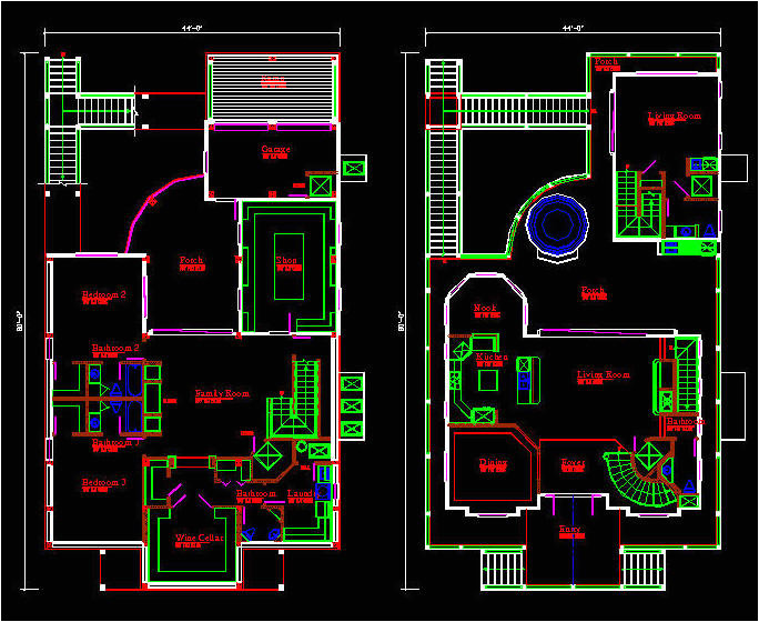 Autocad Plans Of Houses Dwg Files Autocad House Drawing at Getdrawings Com Free for