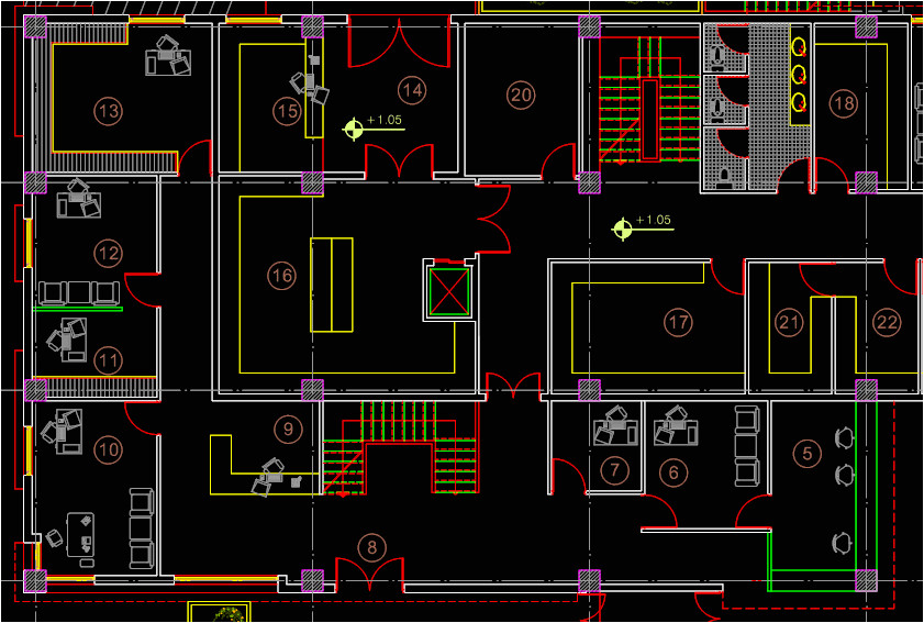 autocad house plans dwg file