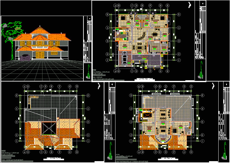 house plan autocad drawing bibliocad