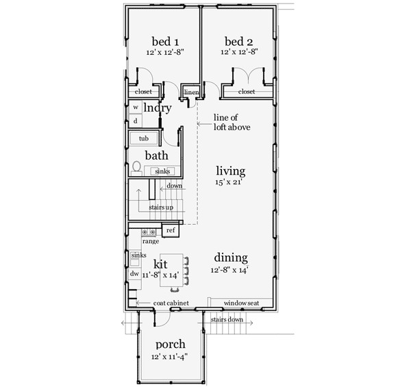 modern style barn style plan 44103td