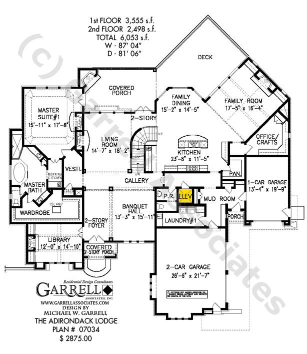 adirondack lodge house plan