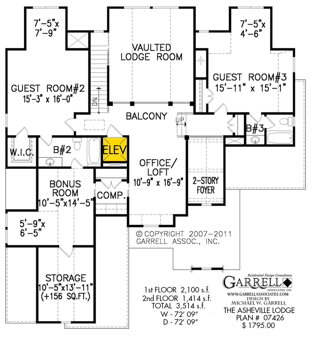 asheville lodge house plan