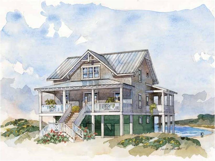 beach house plans for narrow lot