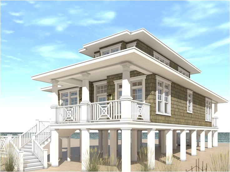 beach house plans for narrow lots