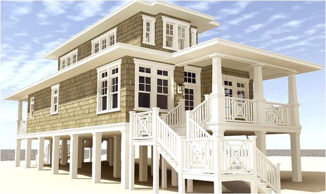 narrow beach house plans ideas