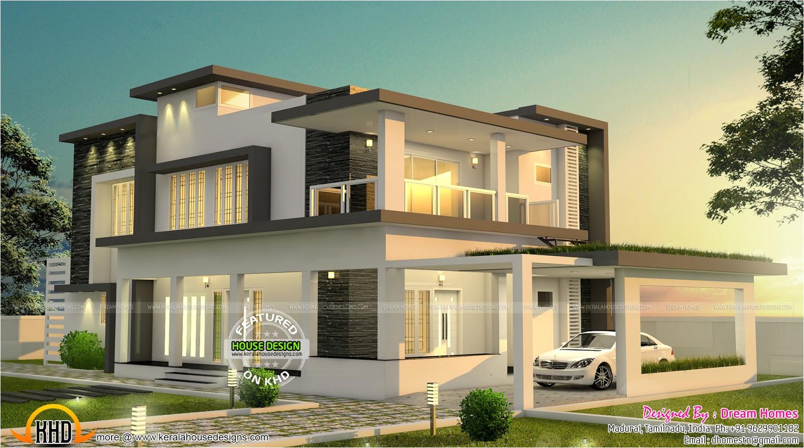 beautiful modern house tamilnadu