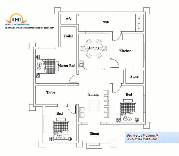 small house design plan kerala style