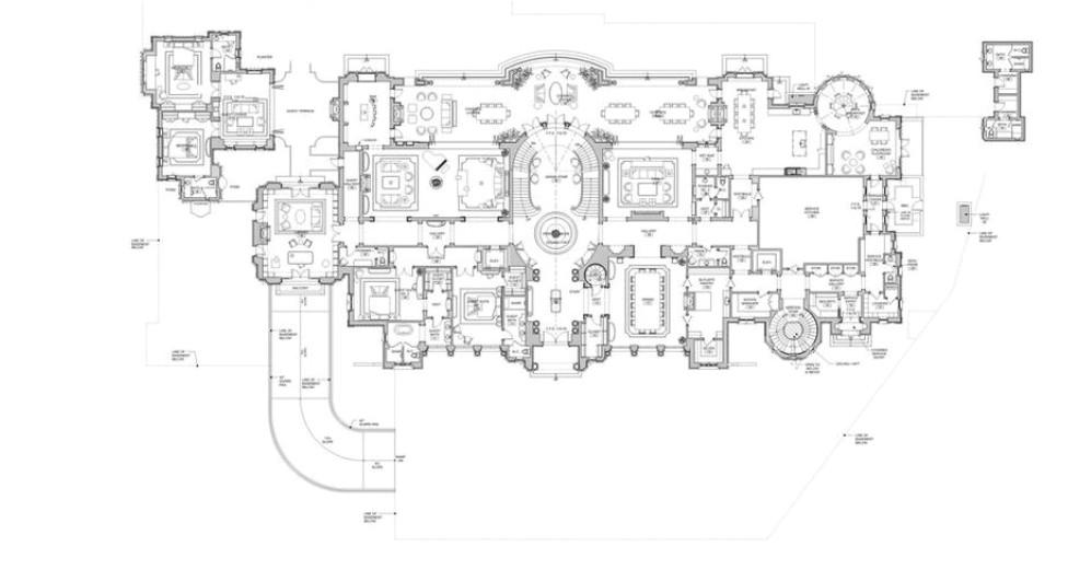 proposed 56000 square foot beverly hills mega mansion floor plans