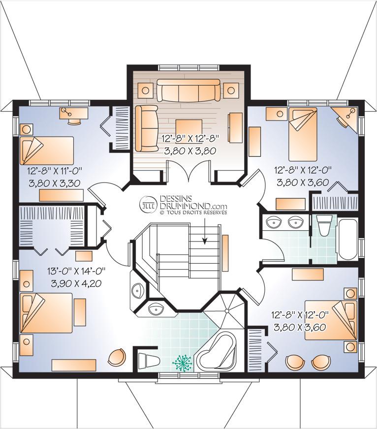 house plan maison duplex bi generation w3041