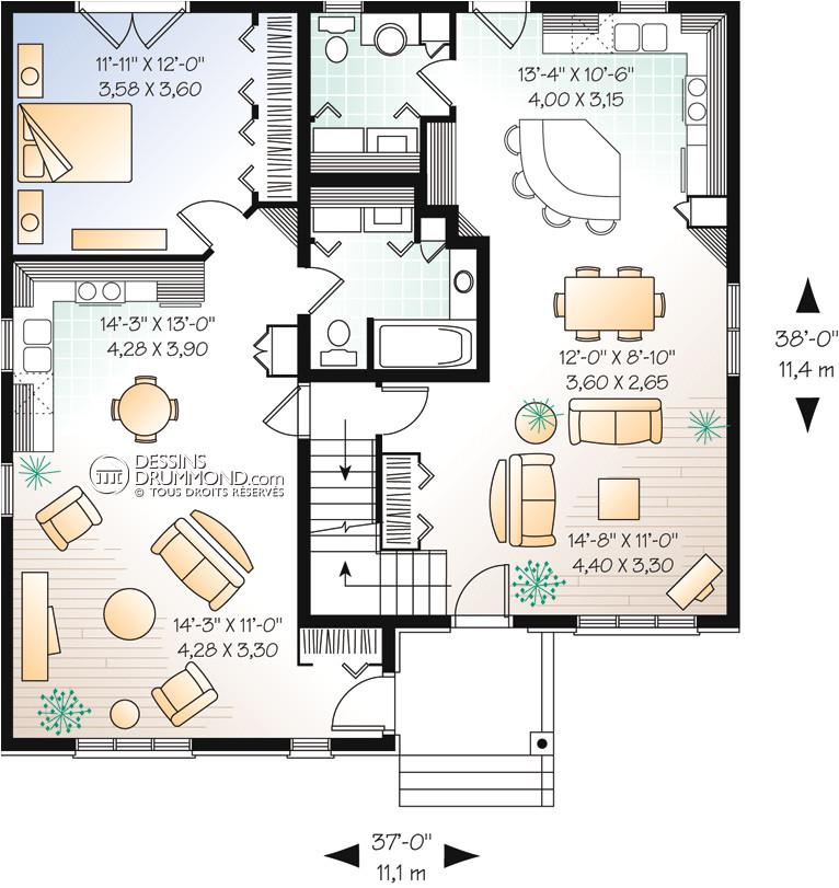 house plan maison duplex bi generation w6017