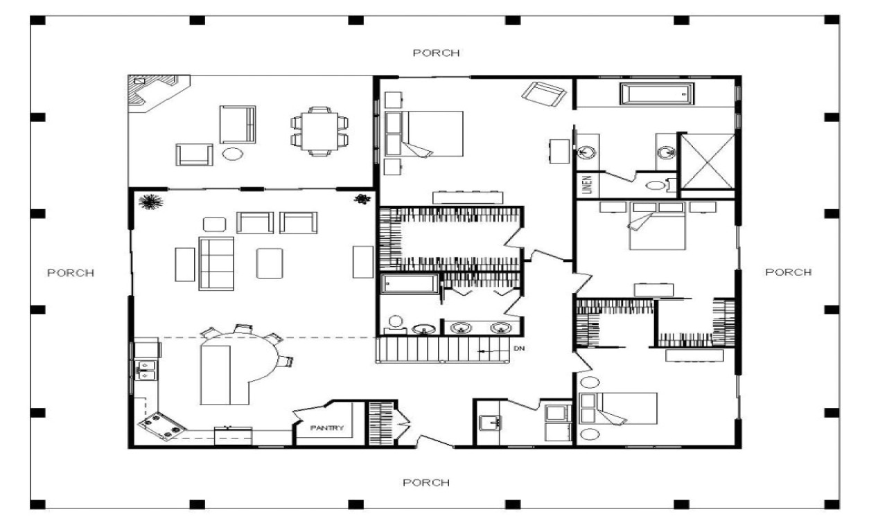 Big Single Story House Plans Single Story 2200 Sq Ft House Plans Large Single Story