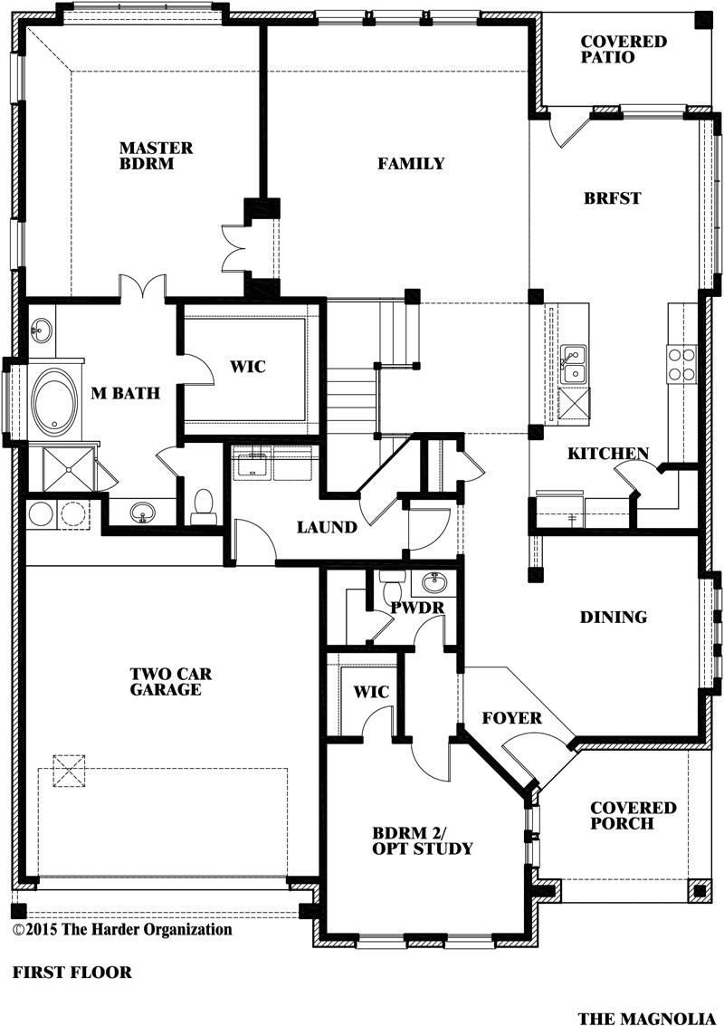 Bloomfield Homes Floor Plans Magnolia Iii Home Plan by Bloomfield Homes In All