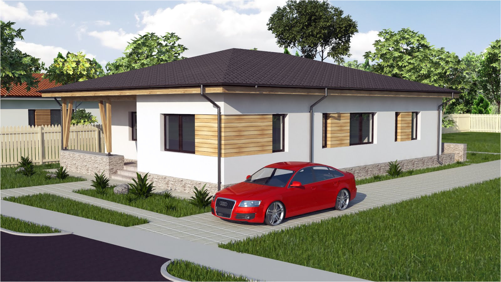 modern bungalow house designs and floor plans 3d