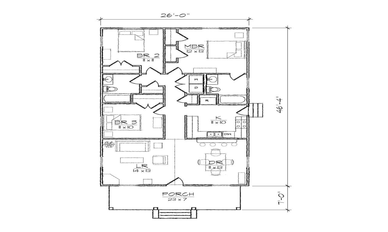 2c4d417886414ad7 bungalow cottage narrow lot plan narrow plan bungalow house with garage