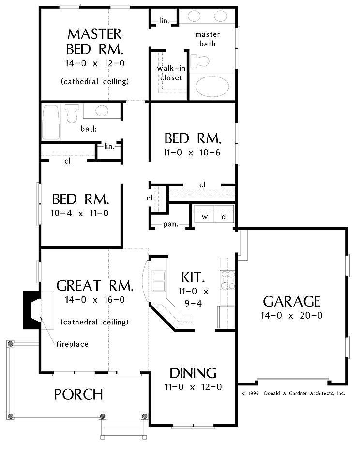 house plans for a narrow lot bungalow