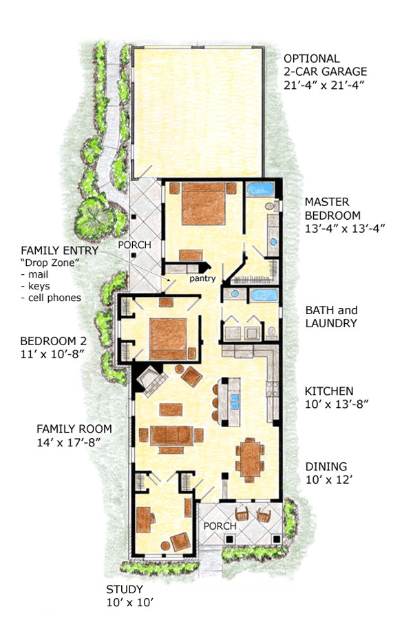 Bungalow House Plans for Narrow Lots Impressive Home Plans for Narrow Lots 8 Lot Narrow Plan
