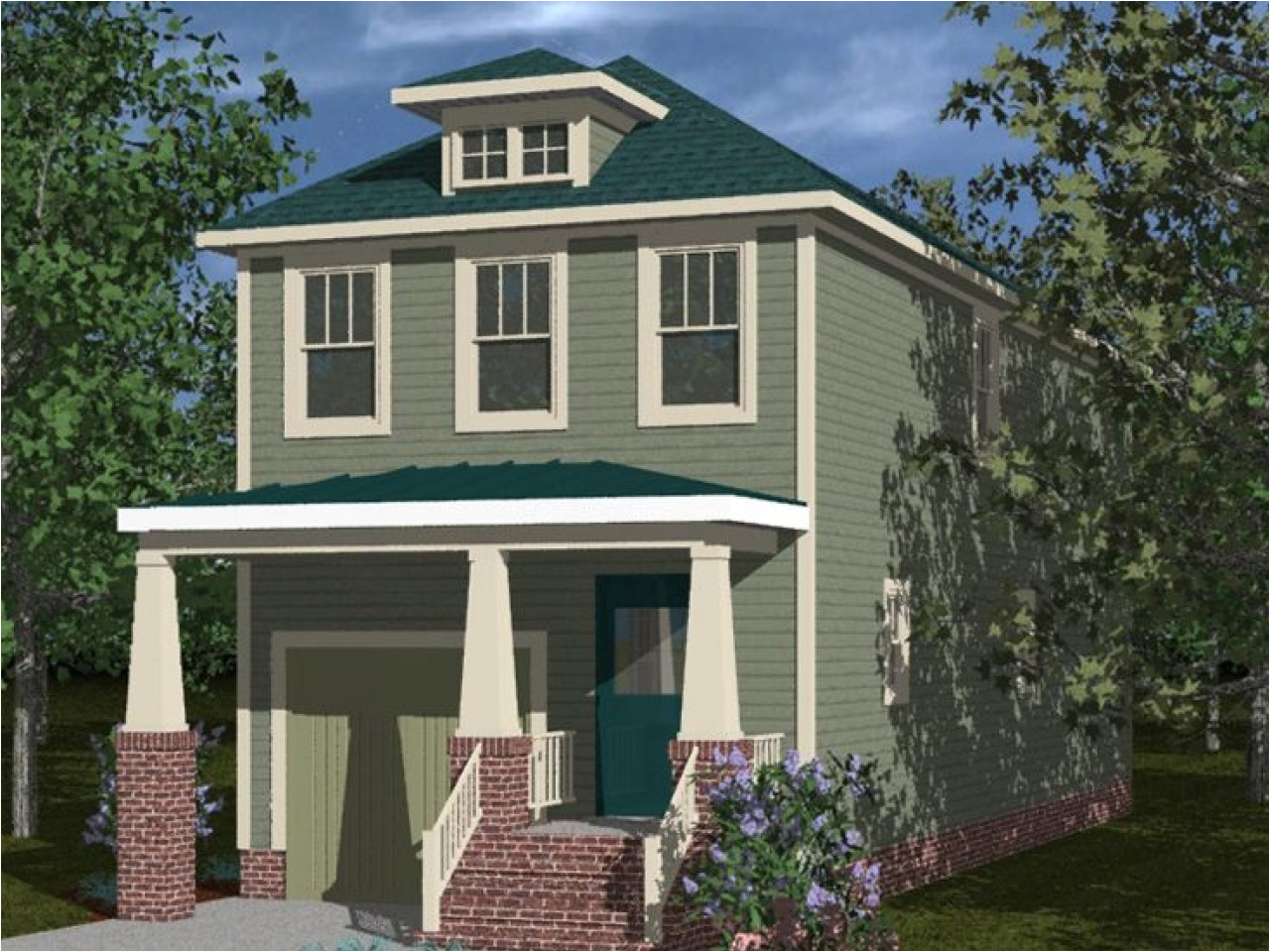 226772a9b46cdb5c lot narrow plan bungalow house bungalow narrow lot house plan