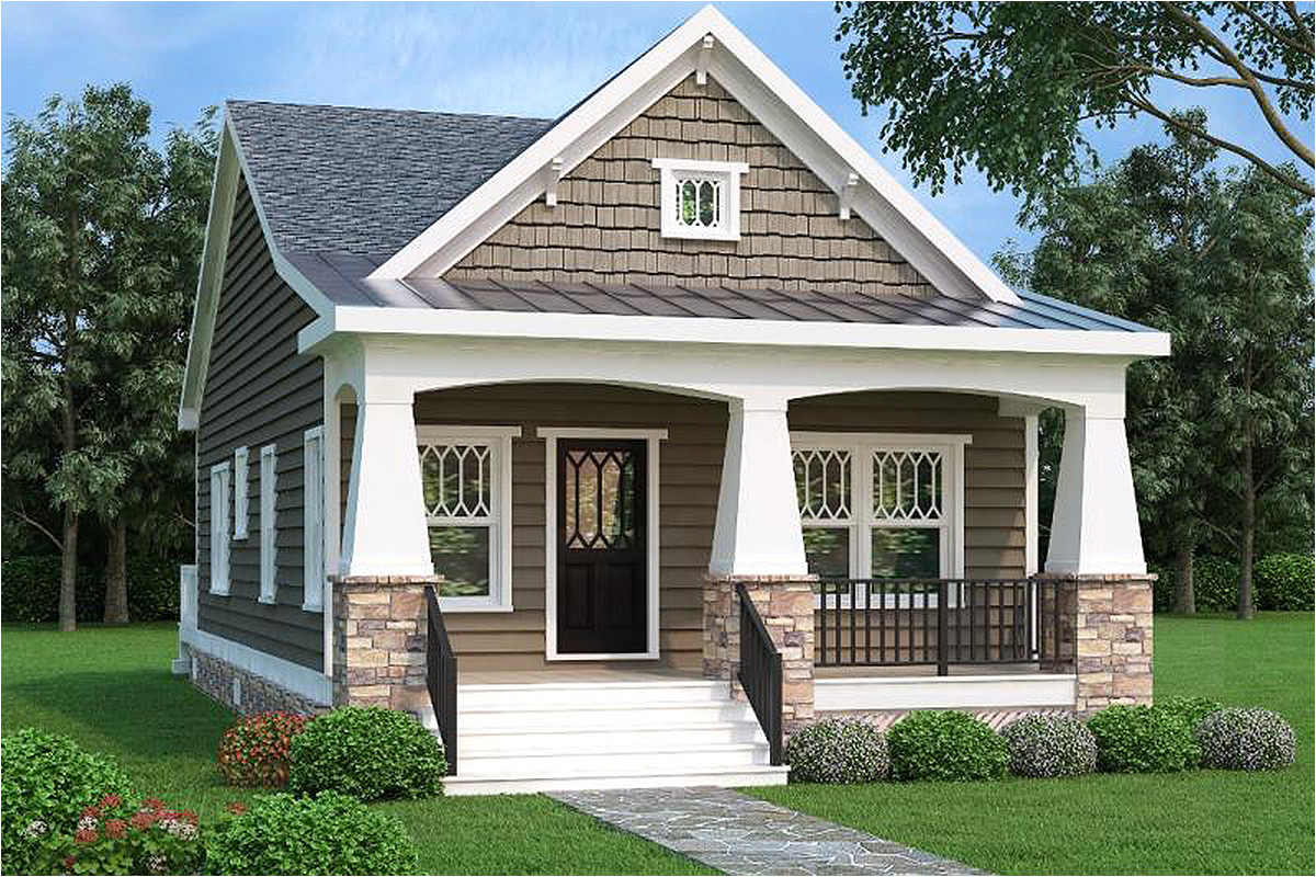 2 bed bungalow house plan with vaulted family room 75565gb