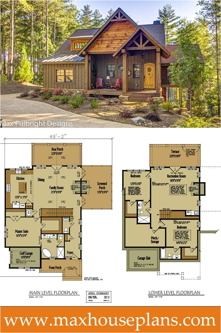 cabin home plans and designs