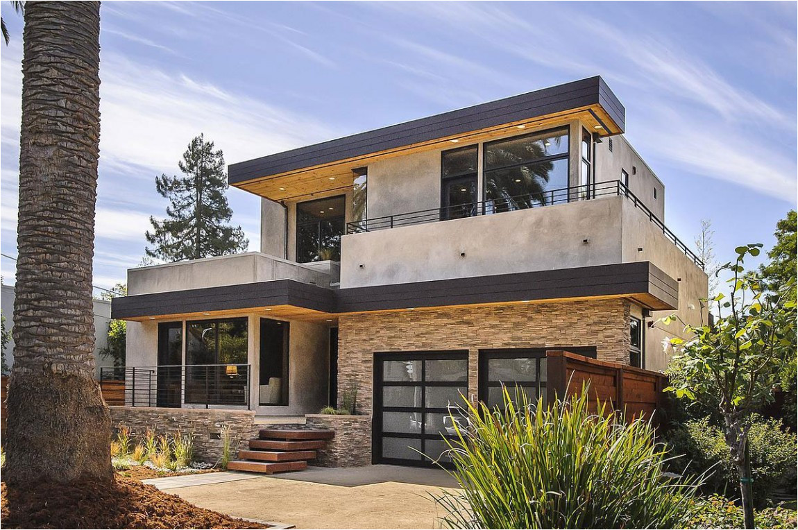 contemporary style home in burlingame