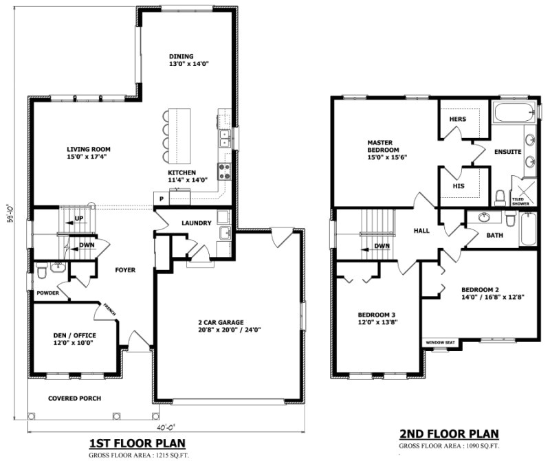 the calgary two storey house plan