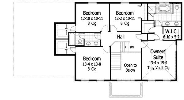 colonial house plan 14473rk
