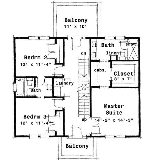 center hall colonial house plan 44045td