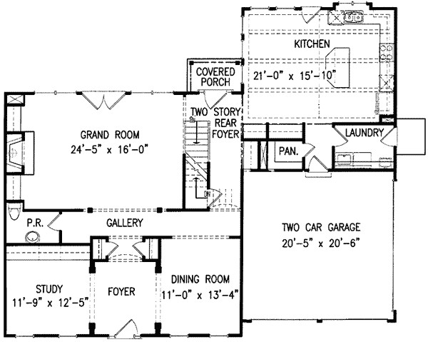 classic center hall home plan 15718ge