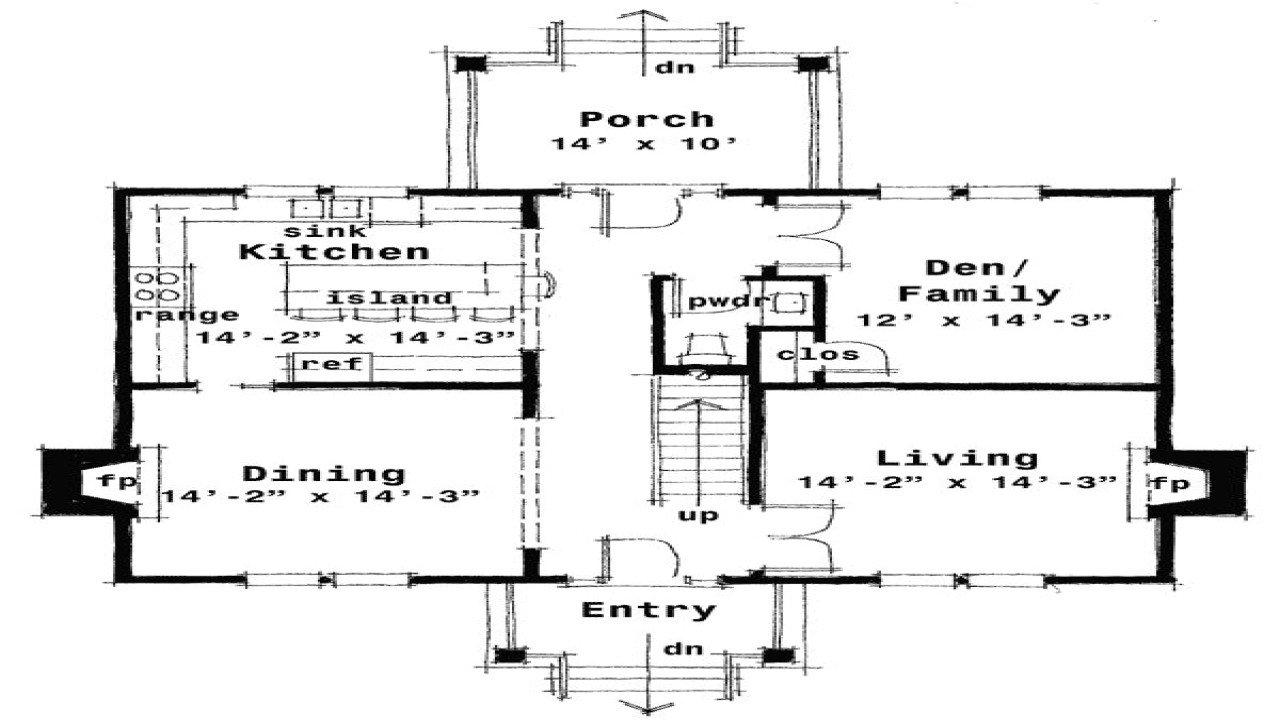 traditional center hall colonial house plans
