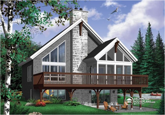 rustic chalet house plan with mezzanine