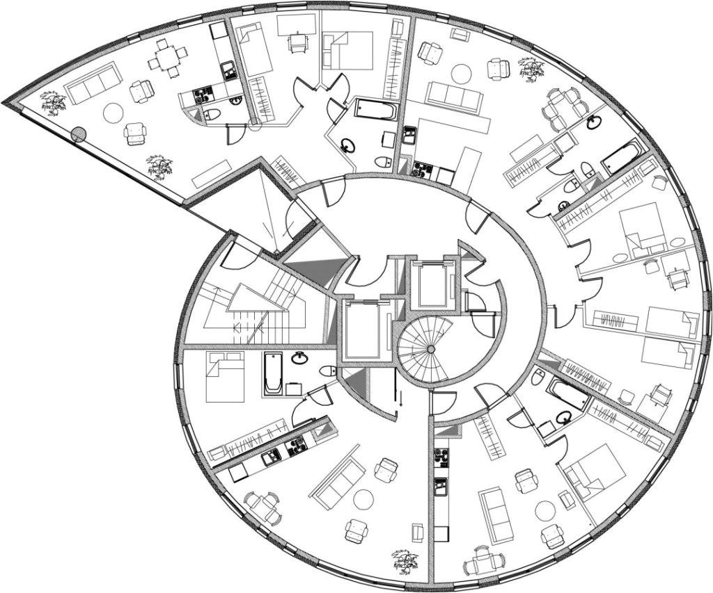 circular floor plans