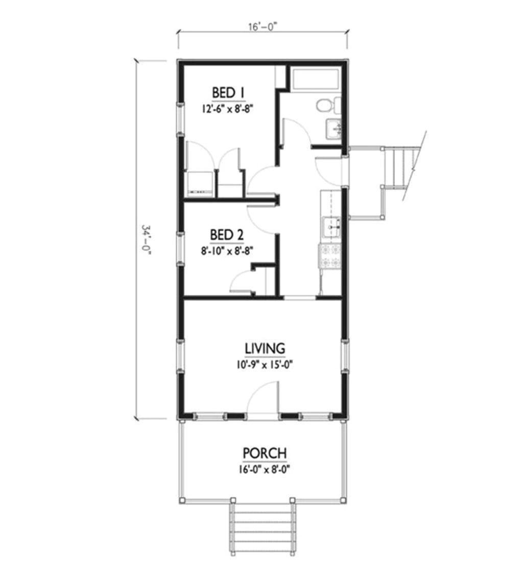 rectangular home plan
