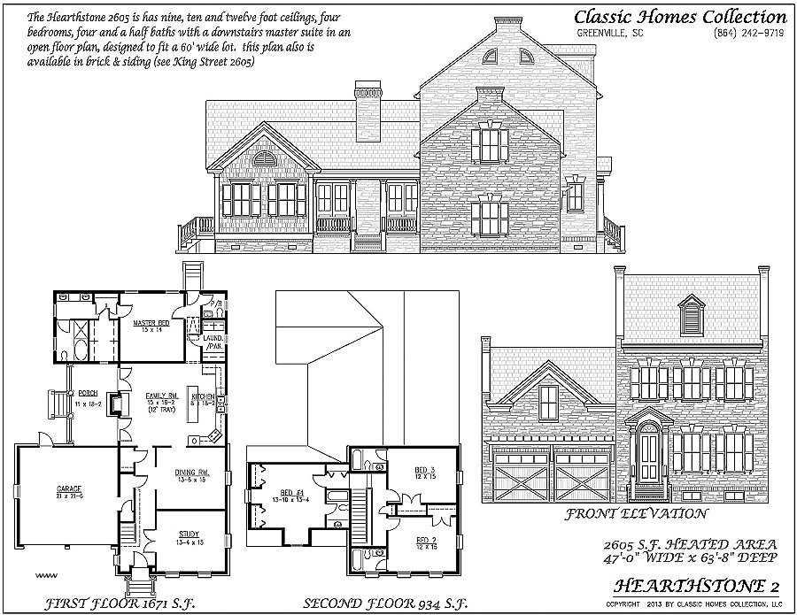 classic american homes floor plans