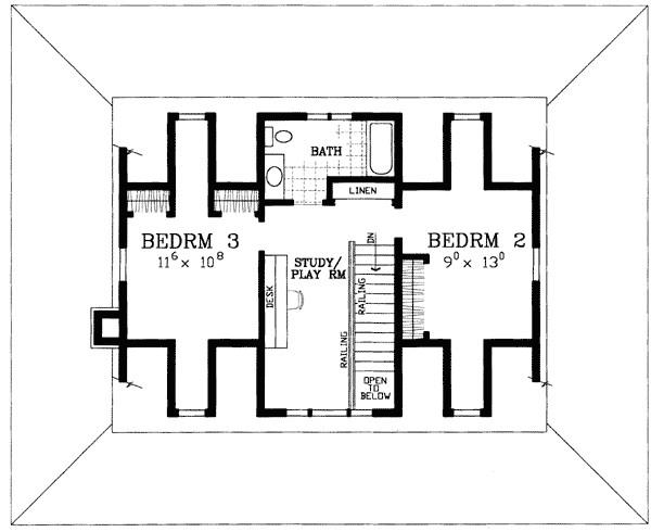 american classic house plan 81418w