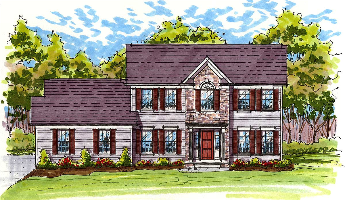 colonial house plan 20519dv