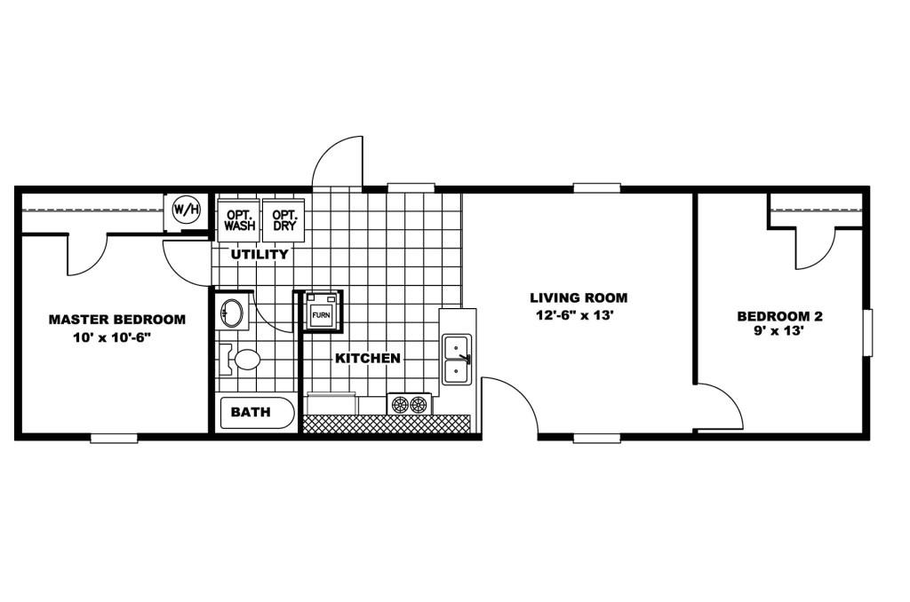 manufactured home floor plan clayton vision vis 105684