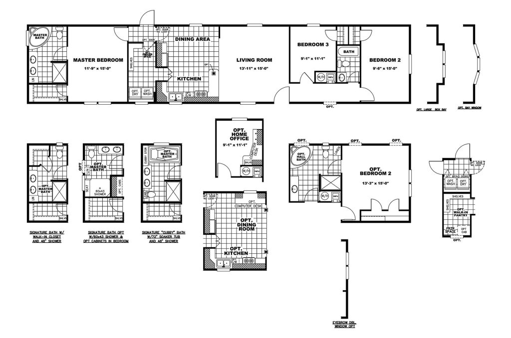 manufactured home floor plan clayton the sycamore 286809