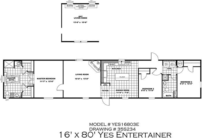 16 x 80 mobile home floor plans elegant clayton yes series mobile homes 1st choice home centers 2