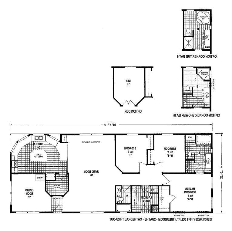 Clayton Single Wide Mobile Homes Floor Plans Clayton Mobile Home Floor Plans Photos