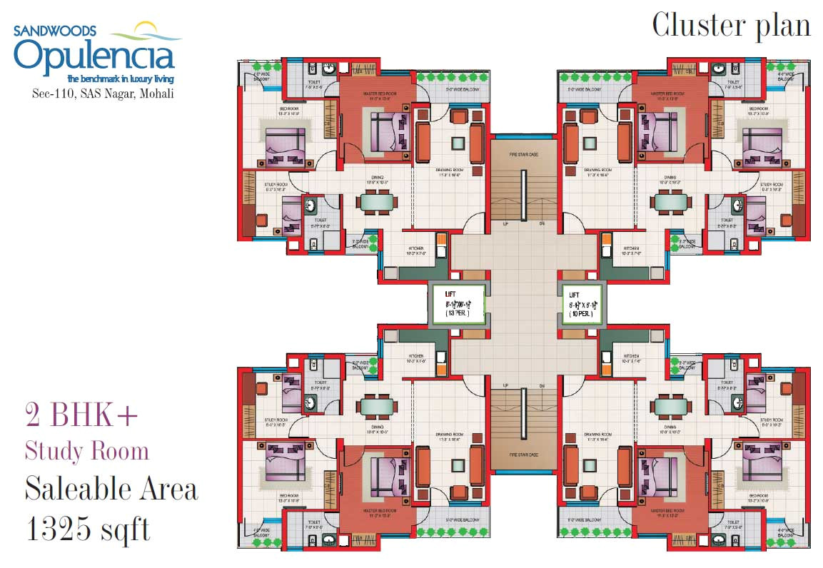 opulencia sandwood flats mohali 2 bhk 3 bhk 4 bhk ready to move flats in sector 110 mohali near chandigarh