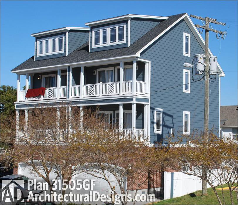 coastal duplex house plan 31505gf