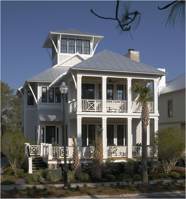 Coastal Homes Plans Coastal Beach House Plans 4 Bedrooms 4 Covered Porches