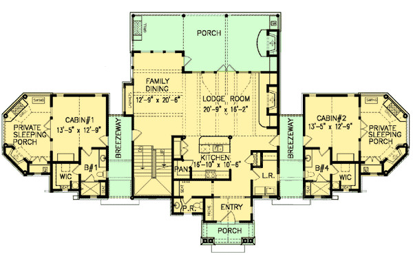 vacation home plan 15870ge