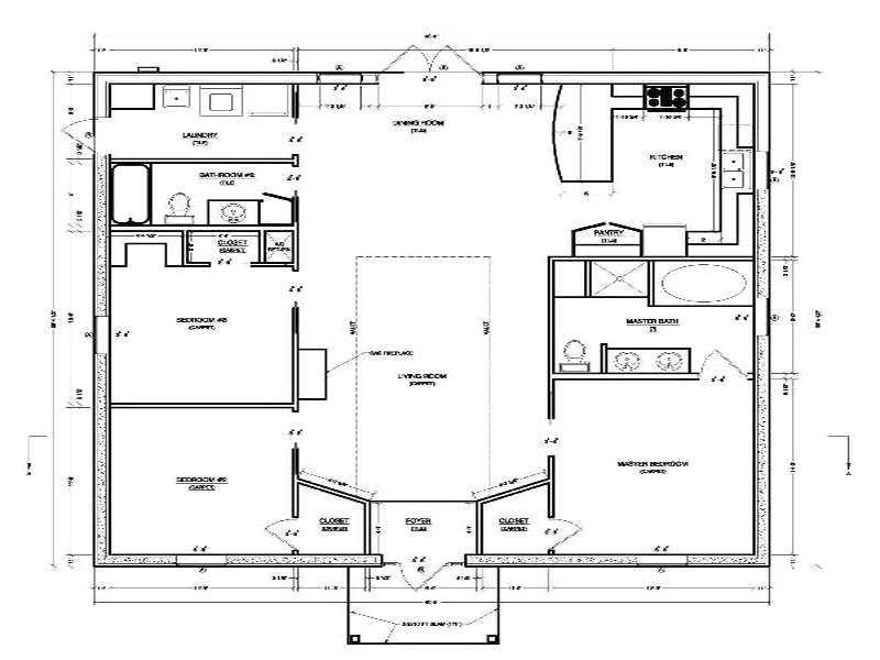 concrete block homes floor plans