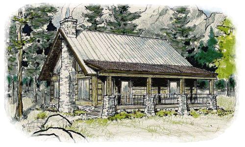 concrete log home floor plans