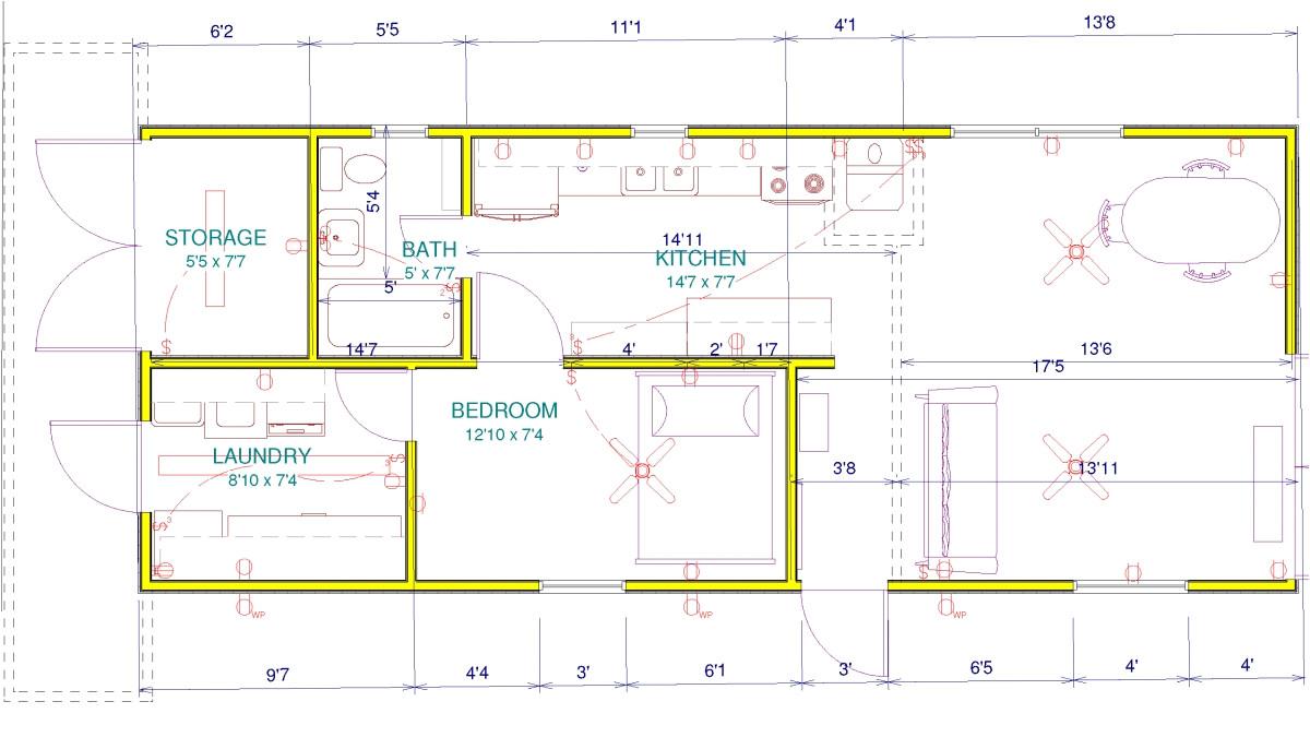 conex home plans