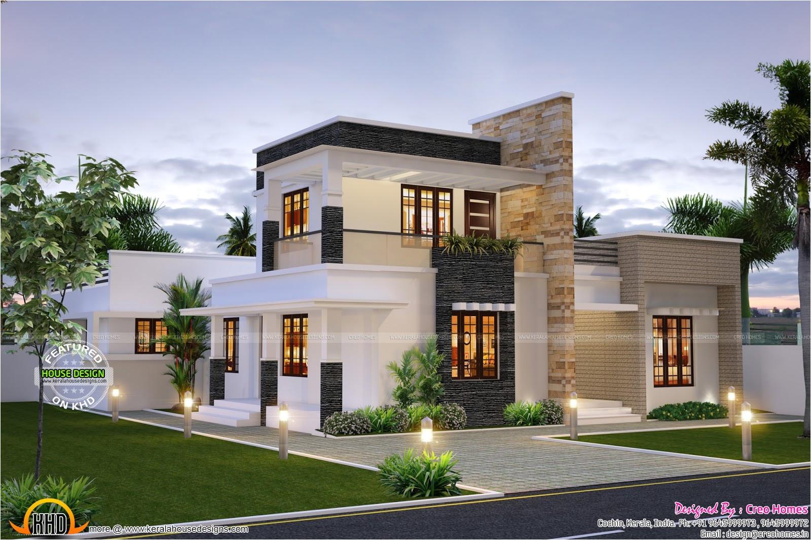 modern contemporary house plans kerala
