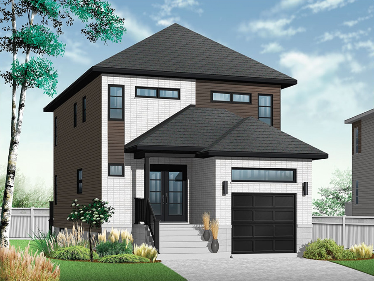 modern house design for narrow lots
