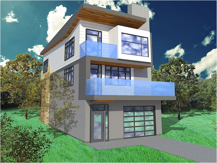modern house plans for narrow lots